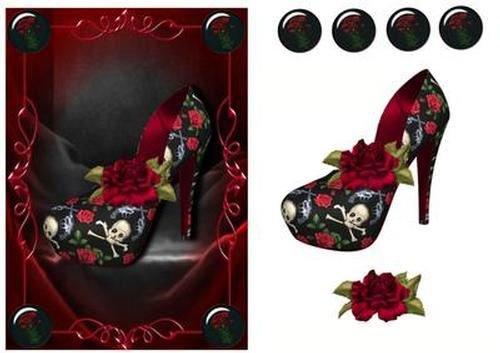 Gótico Zapato de Diva–de calaveras, guns 'n' Roses by Anne...