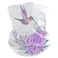 KUWT Cute Hummingbird Flower Face Sun Dust Mask Neck Gaiter Multifunctional Magic Scarf Seamless Bandana Headbands for Outdoor Festivals Sports