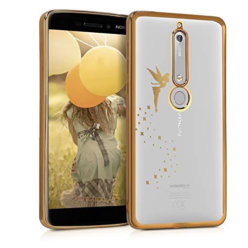 kwmobile Nokia 6.1 (2018) Hülle - Handyhülle für Nokia 6.1 (2018) - Handy Case in Gold Transparent
