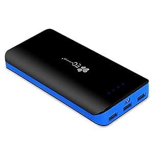 EC Technology 22400mAh Ultra-Compact Batterie Externe 2 Ports USB (Sortie 2.1A / 1.5A ) Chargeur de Secours Portatif pour iPhone 8/8 plus/X, iPhone 6, 6 Plus, 5s, 5c, iPad, iPad mini, Samsung Galaxy S5, S4, S3, HTC One, Nexus 5 et D'autres Android, Windows Smartphones et Tablettes - Bleu & Noir