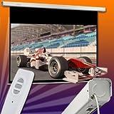 ULTRALUXX © Motorleinwand 220 cm x 165 cm (275 cm Diagonale) Infrarot Fernbedienung 4:3 intrigiertes Infrarotmodul für Full HD, HDTV, 3D ready 3D,4k Darstellung Serie DeLuxe