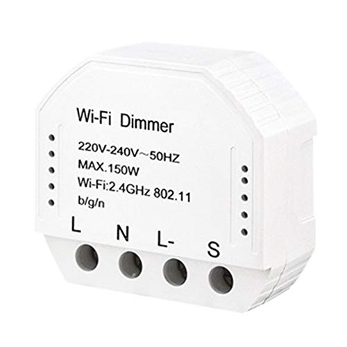 WiFi Dimmer Schalter WiFi Smart Light Dimmer Switch Modul 220V-240V Fernbedienung LED Licht Wireless Switch Modul für Deckenleuchte, Downlight, Flurlicht, weiß -