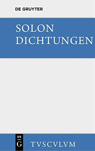 Dichtungen: Sämtliche Fragmente. Griechisch und deutsch (Sammlung Tusculum)