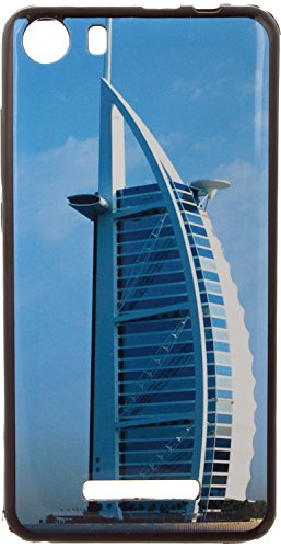 iCandy UV Printed Matte Finish Soft Back cover for Micromax Canvas Spark 2 Q334 - BLUEBURJ  available at amazon for Rs.99