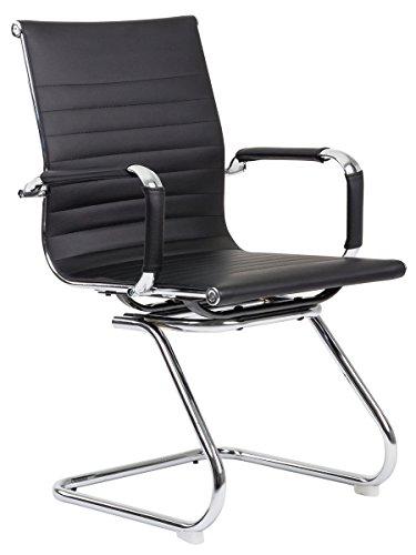Bürostuhl CLASSIC schwarz Konferenzstuhl Besucherstuhl Wartestuhl elegant und bequem