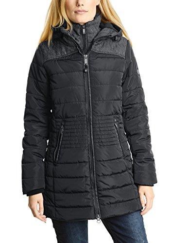 CECIL Damen Mantel 100193 Schwarz (Black 10001), Medium