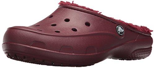 crocs Freesail Plush Lined Clog, Damen Clogs, Braun (Garnet), 39-40 EU