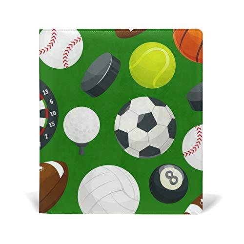 Sport Ball Green Buchumschläge für Taschenbücher Bücherbücher Büchercover Jumbo-Schutzjacke robust wiederverwendbar -