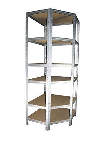 Eckregal Stecksystem 180 x 60 x 30 cm mit 6 Böden für Schwerlastregale mit 30 cm Tiefe: Ideale...