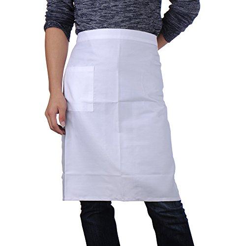 vlunt Taille Schürze Master Chef Professional Schürze weiß (Pizza Kostüme Erwachsene)