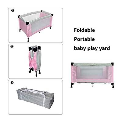 Sotech - large baby play yard,Cama de Bebé Portátil, Patio de Juegos para Bebes, Estándar CE