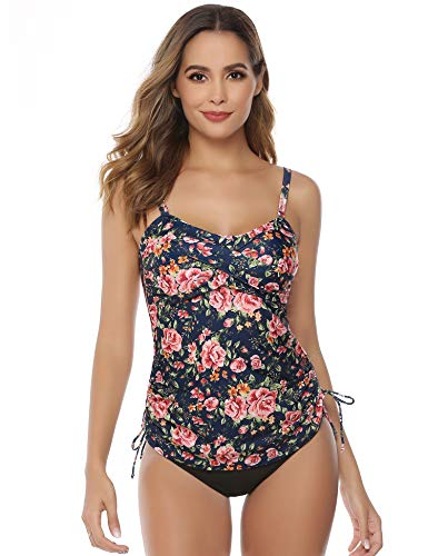 Kostüm Party Pad - Hawiton Damen Tankini Set - Sexy Sling Badebekleidung Two Piece Push Up Bademode Zweiteilige Schwimmanzug Verstellbarer Rückenfrei Strandmode mit Dreieck Unterhosen