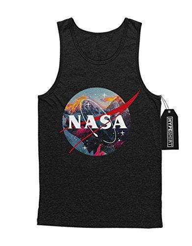 """Tank-Top """"NASA LOGO VOLCANOS"""" K123451 Schwarz"""