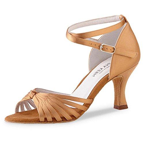 Anna Kern - Femmes Chaussures de Danse 526-60 - Satin Bronze - 6 cm Bronze