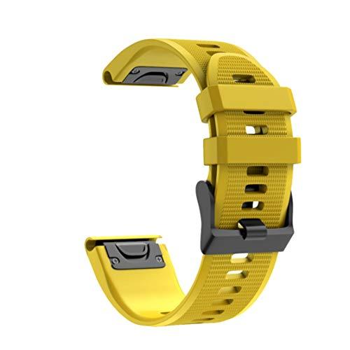 Preisvergleich Produktbild happy event Schnellwechsel Ersatz Silikonarmband für den Garmin Fenix 5X Plus (Gelb)