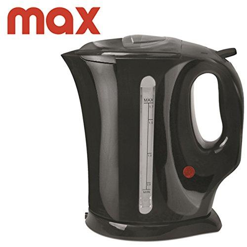 Max bollitore elettrico, spegnimento automatico, nero, 900w, 1 litro