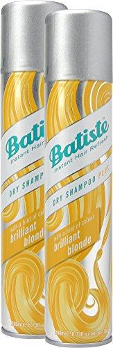 Batiste Trockenshampoo Dry Shampoo Brilliant Blonde mit einem Hauch von Farbe für blondes Haar, Frisches Haar für alle Haartypen, 2er Pack (2 x 200 ml)