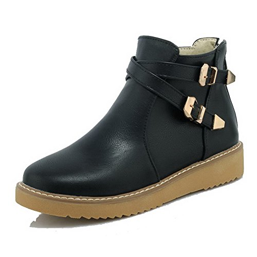 agoolar-womens-low-top-solid-zipper-round-closed-toe-low-heels-boots-black-34