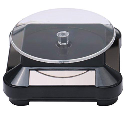 Gazechimp XRF-038 360°Solar Drehteller Präsentierteller Handy Uhr Schmuck Display 2-4 Kreise/Min Schwarz