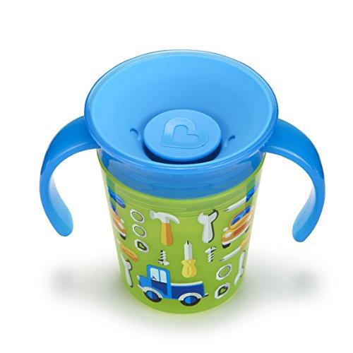 Munchkin Miracle 360ᵒ Deko Trinklernbecher, mit Griffen, grün, mit Automotiv, 177 ml