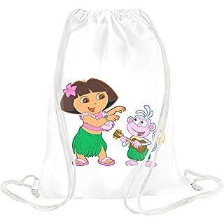 Dora la exploradora character Drawstring bag