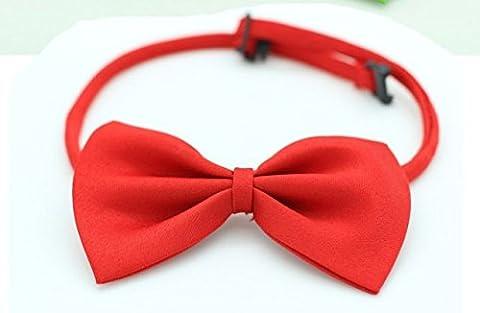 Weihnachten Hund Katze Halsband Fliege ,Rot
