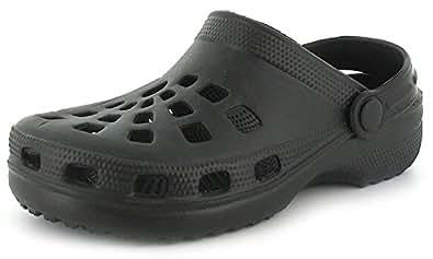 New Womens/Ladies Black Summer Beach Clogs/Sandals/Shoes - Black - UK SIZE 3