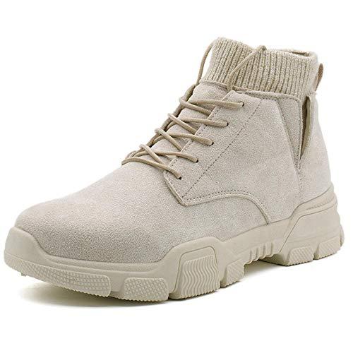 RFF Fashion men's shoes Schuhe Herbst und Winter Herren Booties Classic Martin Stiefel Klassische Mode,Khaki_42 -
