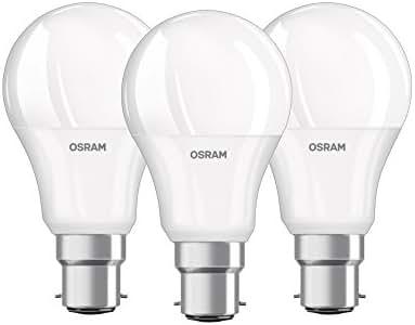 OSRAM Ampoule LED/Culot B22, 9 W Equivalent 60 W/forme classique/Dépoli Blanc Chaud - 806lm 2700K