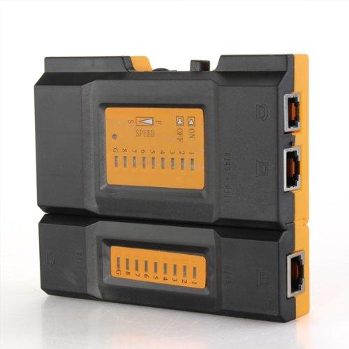 COLEMETER TEST TESTER CAVO DI RETE LAN NETWORK RJ45 RJ11 CABLE [Elettronica]