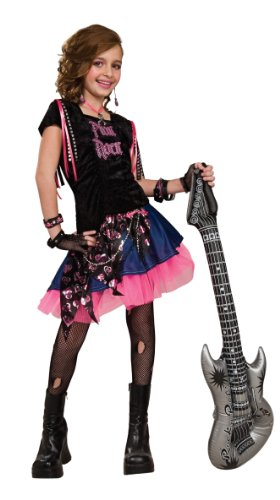 Rubie's 2883780M Rock Girl, Kostüm für Kinder, Rosa, -