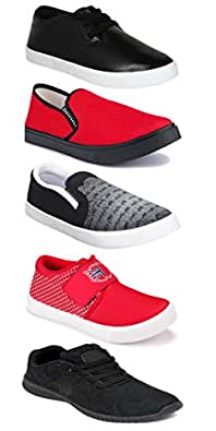 WORLD WEAR FOOTWEAR Sports Running Shoes/Casual/Sneakers/Loafers Shoes for MenMulticolors (Combo-(5)-1219-1221-1140-720-748)
