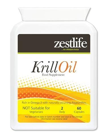 Zestlife Superba Krill Oil   Superba™   Sustainably Fished by Aker BioMarine   500mg 2 x 60 Marine Soft Gel Capsules   Premium GMP
