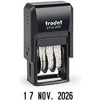 Sello Fechador Trodat Printy 4810, meses español abreviados, altura fecha 3,8 mm, entintaje automático, tinta negra