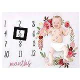 #5: YeahiBaby Photography Background Blanket Newborns Background Monthly Milestone (Black Frame)