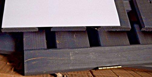 Mülltonnenbox schwarz 1 Tonne FSC Holz Verkleidung Mülltonnenverkleidung B-WARE - 4