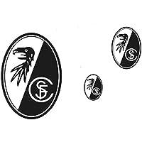 Aufkleberkarte Drei Wappen SC Freiburg - Aufkleber, Sticker, Autoaufkleber, esichtaufkleber etiqueta engomada, autocollant
