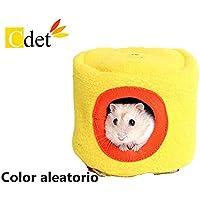 Cdet 1X Stump tipo hámster nido caliente Hamster jaulas pequeño animal Pequeño animal doméstico diablo ardilla duerme nido de algodón jaulas de mascotas para conejillos de indias(Color al azar)