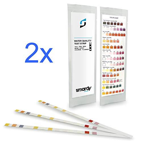 smardy 6x ULTRA 13 IN 1 strisce test per acqua, piscine, spa, purificatore d' acqua e acqua potabile fonti, rileva, nitrati, nitriti, PH, cloro libero, durezza totale e più