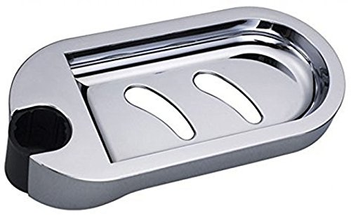 INCHANT Shower Rail Clip-on Bathroom Soap Holder Soap Dish, ABS Material (Fit for 24mm Tube)