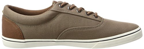 Jack & Jones Jfwvision Mixed Taupe Grey, Sneakers Basses Homme Gris (Taupe Gray)