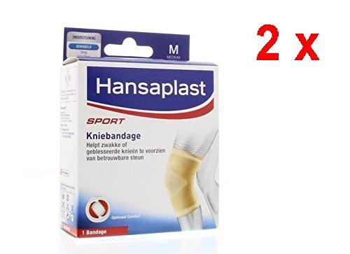 2 x Hansaplast Sport Kniebandage - Medium - 1 Stück