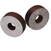 Moleteado Par de 1,0 mm Encimera engranaje de rueda moleteada Máquina de ruedas con textura estriada Torno de grabación en relieve de ruedas Herramientas Accesorios de Hob Torno de metal