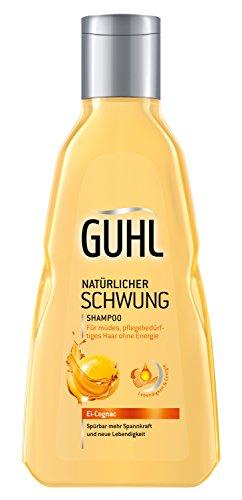 Guhl Natürlicher Schwung Shampoo - 2er Pack (2x 250 ml) - mit Ei und Cognac - enthält Proteine und Lecithin - stärkt das Haar