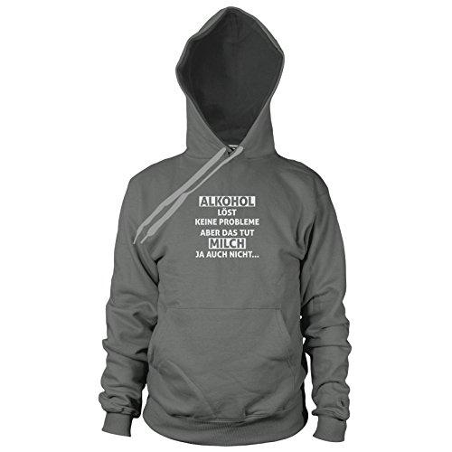 Alkohol löst keine Probleme - Herren Hooded Sweater, Größe: XL, Farbe: (Männer Jägermeister Kostüm)