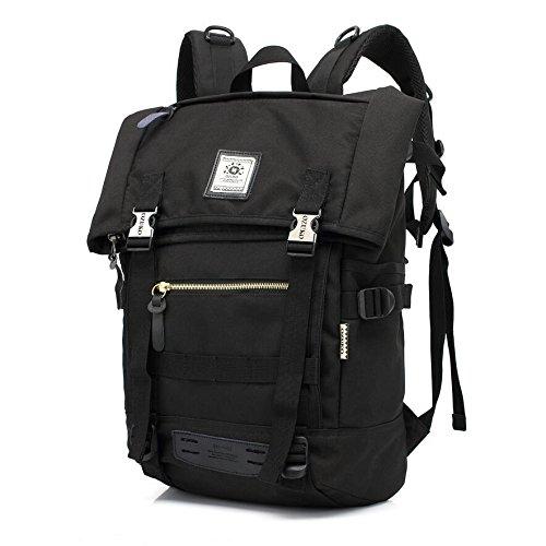 LF&F Tragbare Outdoor Mode Multifunktions Umhängetasche Reise-Rucksack Laufen Wandern Bergsteigen Camping Schule Urlaub Gepäck Tasche 19L Black