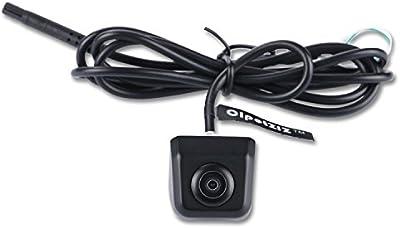 Front cámara de visión, cipotziz universal normal imagen coche reverso Copia de seguridad cámara de visión trasera/delantera, para coche, Negro