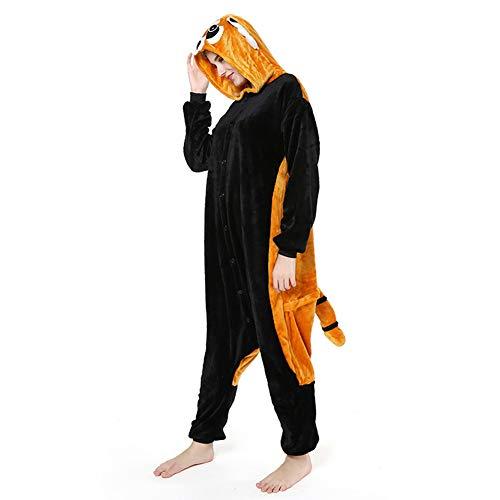 Love Home Cartoon Siamese Pyjamas Unisex Erwachsene Tier Waschbär Nachtwäsche mit Kapuze Cosplay Kostüm Anziehende Pyjama Erotische Kleidung,L