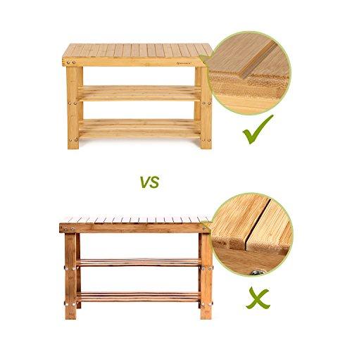 Sitzbank / Schuhregal aus Bambus - 2