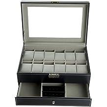 Feibrand PU Scatola Porta Orologi Custodia per 12 Orologi / Bracciali